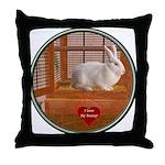 Bunny #3 Throw Pillow