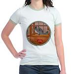Chinchilla #1 Jr. Ringer T-Shirt