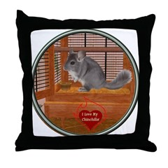 Chinchilla #1 Throw Pillow