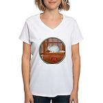 Chincilla #2 Women's V-Neck T-Shirt