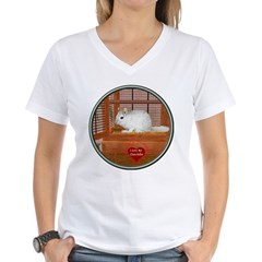 Chincilla #2 Women's V-Neck T-Shirt