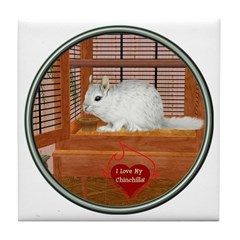 Chincilla #2 Tile Coaster