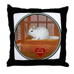 Chincilla #2 Throw Pillow