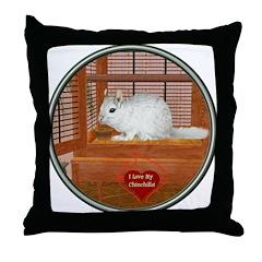 Chincilla #2 Throw Pillow