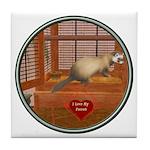 Ferret #1 Tile Coaster