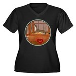 Ferret #2 Women's Plus Size V-Neck Dark T-Shirt