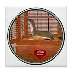 Ferret #2 Tile Coaster