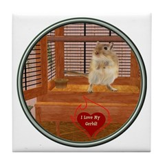 Gerbil Tile Coaster