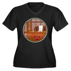 Guinea Pig #1 Women's Plus Size V-Neck Dark T-Shir