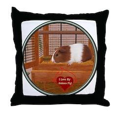 Guinea Pig #1 Throw Pillow