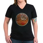 Guinea Pig #2 Women's V-Neck Dark T-Shirt