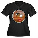 Guinea Pig #3 Women's Plus Size V-Neck Dark T-Shir