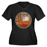 Hamster #3 Women's Plus Size V-Neck Dark T-Shirt