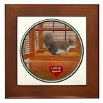 Squirrel Framed Tile
