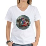 AKSC - Where's Santa? Women's V-Neck T-Shirt