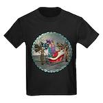 AKSC - Where's Santa? Kids Dark T-Shirt