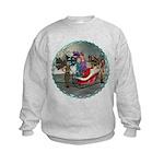 AKSC - Where's Santa? Kids Sweatshirt