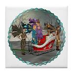 AKSC - Where's Santa? Tile Coaster