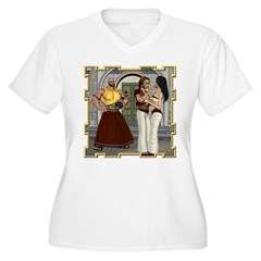 Aladdin Women's Plus Size V-Neck T-Shirt