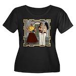 Aladdin Women's Plus Size Scoop Neck Dark T-Shirt