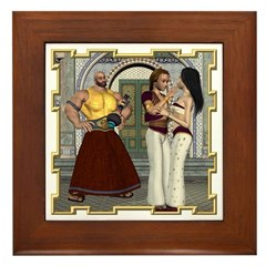 Aladdin Framed Tile