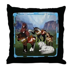 All the Pretty Little Horses Throw Pillow