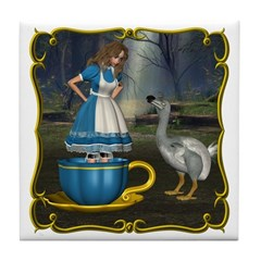 Alice in Wonderland Tile Coaster