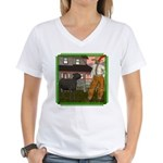 Black Sheep N Farmer Women's V-Neck T-Shirt