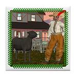 Black Sheep N Farmer Tile Coaster