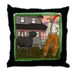Black Sheep N Farmer Throw Pillow