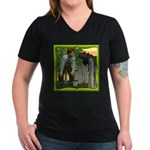Black Sheep N Boy Women's V-Neck Dark T-Shirt