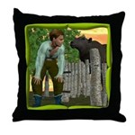 Black Sheep N Boy Throw Pillow