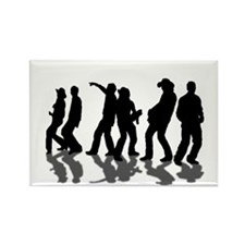 County Music Rectangle Magnet