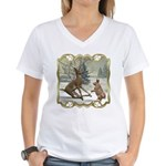 Bambi On Ice Women's V-Neck T-Shirt
