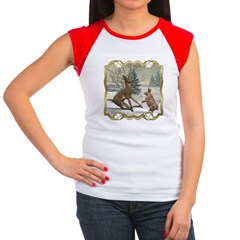 Bambi On Ice Women's Cap Sleeve T-Shirt