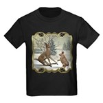 Bambi On Ice Kids Dark T-Shirt