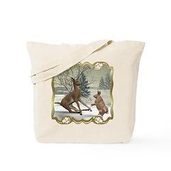 Bambi On Ice Tote Bag