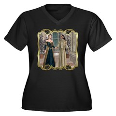 Camelot Women's Plus Size V-Neck Dark T-Shirt
