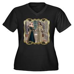 Camelot Women's Plus Size V-Neck Dark T-Shirt