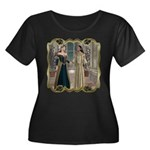 Camelot Women's Plus Size Scoop Neck Dark T-Shirt