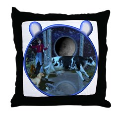 The Cat & The Fiddle Throw Pillow
