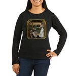 Cinderella & Godmother Women's Long Sleeve Dark T-