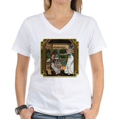 Cinderella & Godmother Women's V-Neck T-Shirt