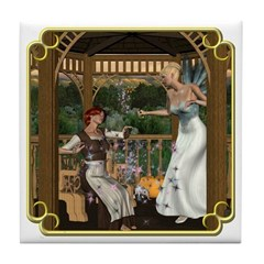 Cinderella & Godmother Tile Coaster