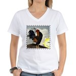The Cock Crows Women's V-Neck T-Shirt