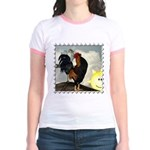 The Cock Crows Jr. Ringer T-Shirt