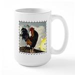 The Cock Crows Large Mug
