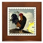 The Cock Crows Framed Tile