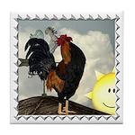 The Cock Crows Tile Coaster