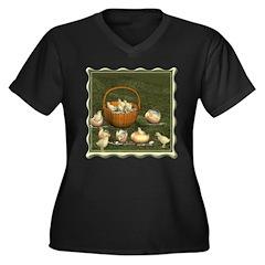 A Dozen Eggs Women's Plus Size V-Neck Dark T-Shirt